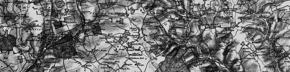 Old map of Woodgates End in 1896