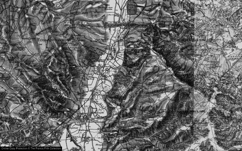 Old Map of Woodgreen, 1895 in 1895