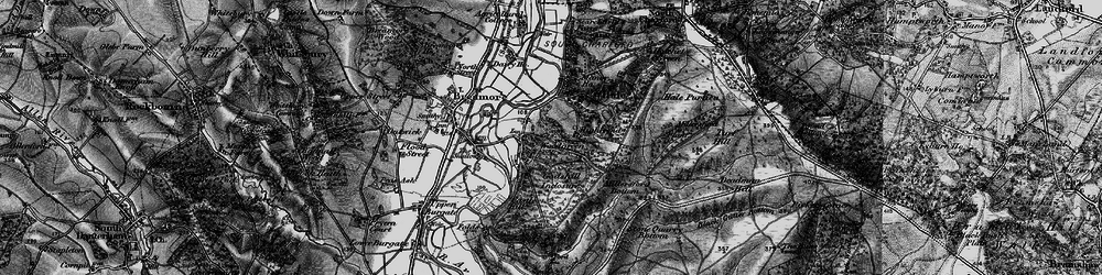 Old map of Woodgreen in 1895