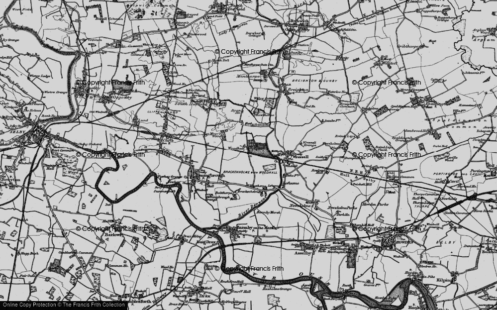 Old Map of Historic Map covering Babthorpe in 1895