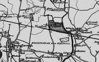 Old map of Babthorpe in 1895