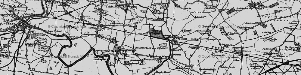 Old map of Woodhall in 1895