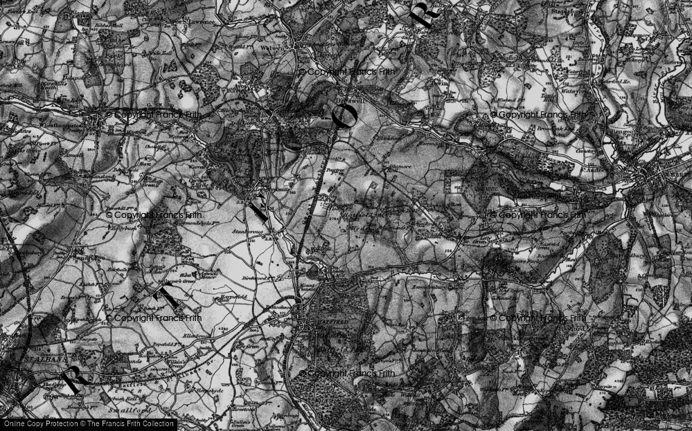 Old Map of Woodhall, 1896 in 1896