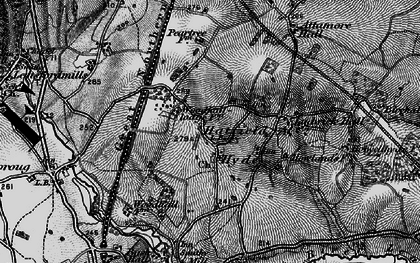 Old map of Woodhall in 1896