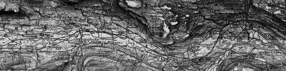 Old map of Woodhall in 1897