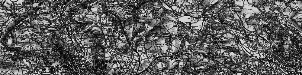 Old map of Woodhall Hills in 1898