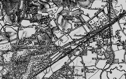 Old map of Woodham in 1896