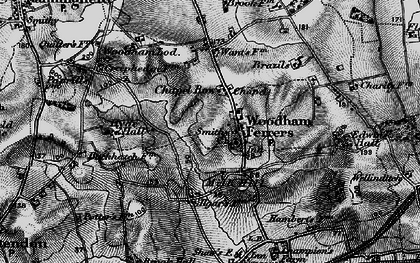 Old map of Woodham Ferrers in 1896