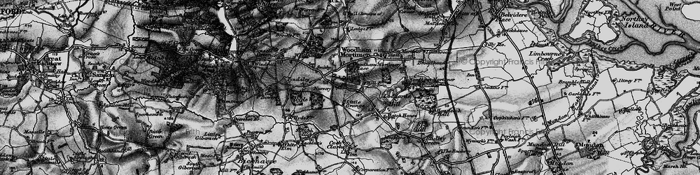 Old map of Woodham Mortimer in 1896