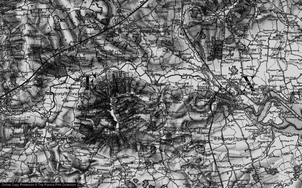 Old Map of Woodham Walter, 1896 in 1896