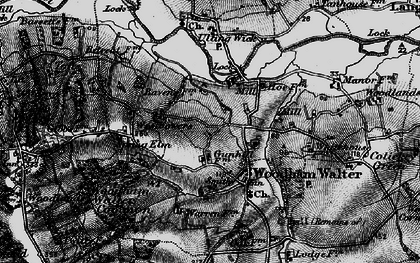 Old map of Woodham Walter in 1896
