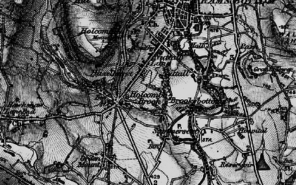 Old map of Woodhey in 1896