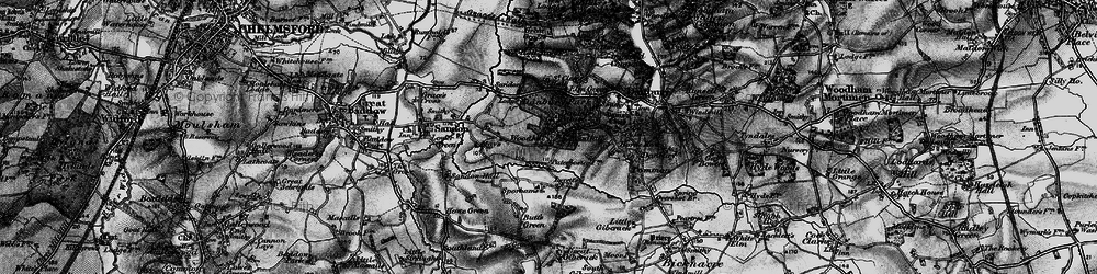 Old map of Woodhill in 1896