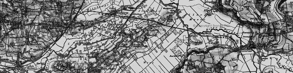 Old map of Woodhill in 1898
