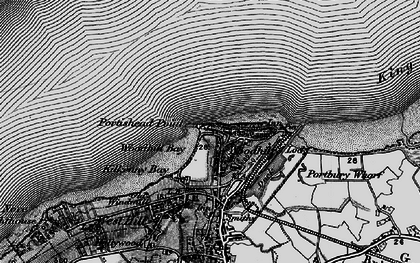 Old map of Woodhill Bay in 1898