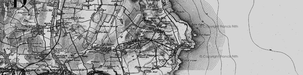Old map of Woodhorn in 1897