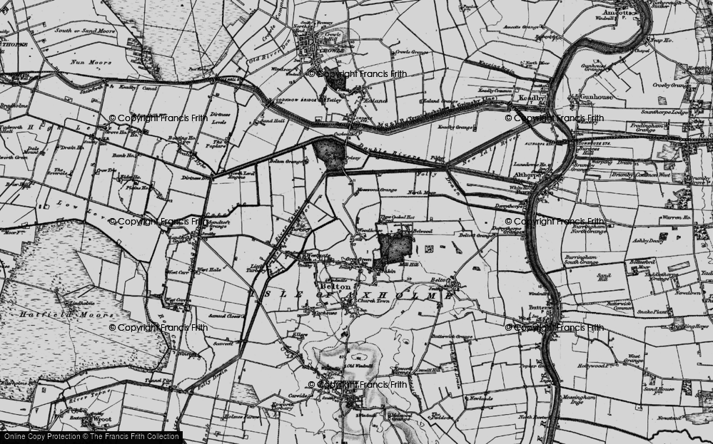 Old Map of Woodhouse, 1895 in 1895