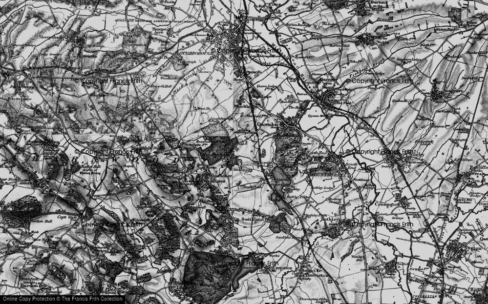 Old Map of Woodhouse, 1899 in 1899