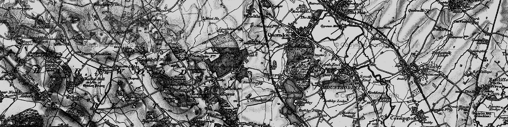 Old map of Woodhouse in 1899