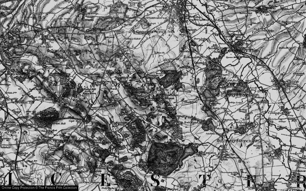 Old Map of Woodhouse Eaves, 1899 in 1899