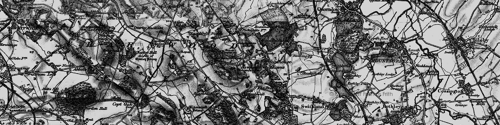 Old map of Woodhouse Eaves in 1899
