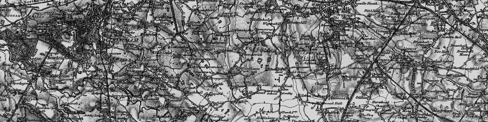 Old map of Woodhouse Park in 1896