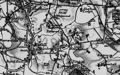 Old map of Woodhouses in 1898