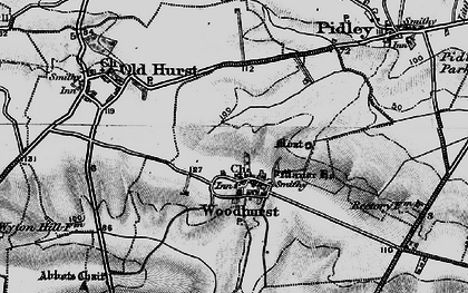 Old map of Woodhurst in 1898