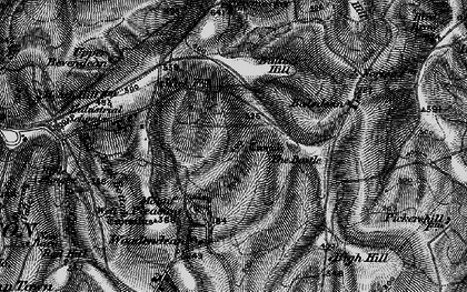 Old map of Woodingdean in 1895