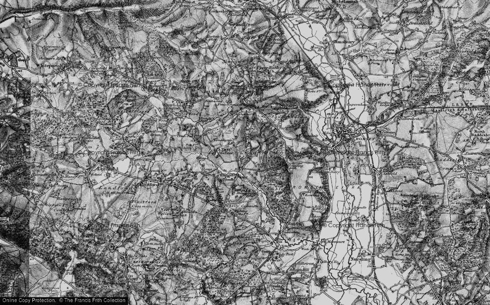Old Map of Woodington, 1895 in 1895