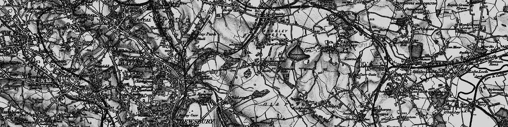 Old map of Woodkirk in 1896