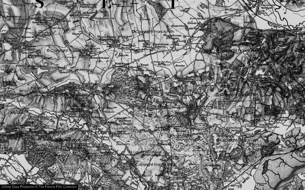 Old Map of Woodlake, 1898 in 1898
