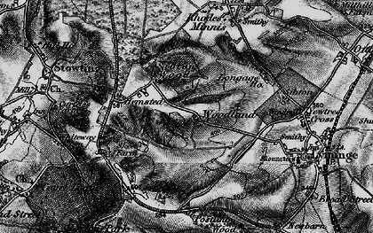 Old map of Woodland in 1895