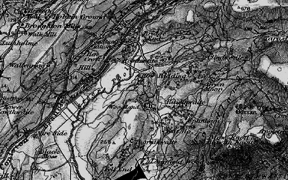 Old map of White Borran in 1897