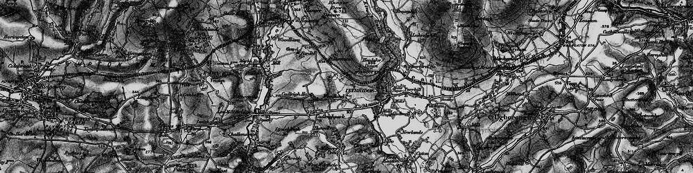 Old map of Woodland in 1898