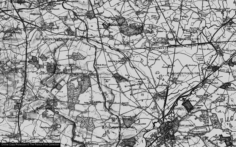 Old Map of Woodlands, 1895 in 1895