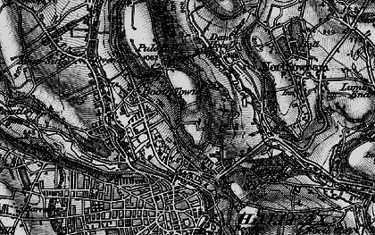 Old map of Woodlands in 1896