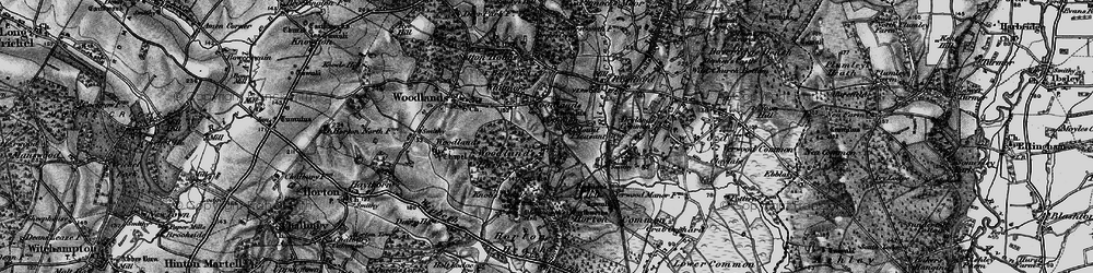 Old map of Woodlands Common in 1895