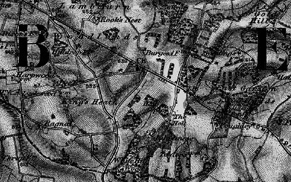 Old map of Woodlands St Mary in 1895