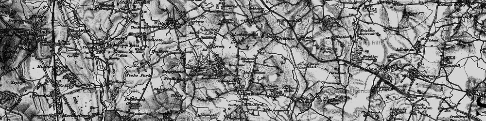 Old map of Woodlane in 1897