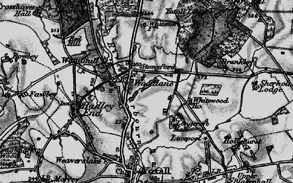 Old map of Woodlane in 1898