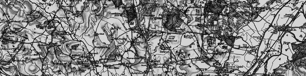 Old map of Whitewood in 1898
