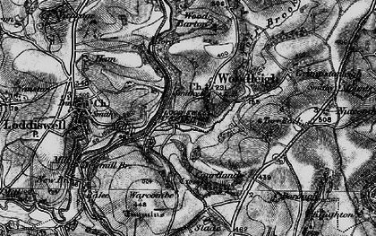 Old map of Woodleigh in 1897