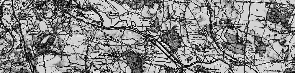 Old map of Woodlesford in 1896