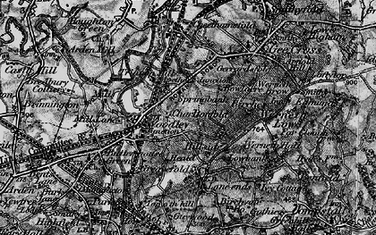 Old map of Woodley in 1896