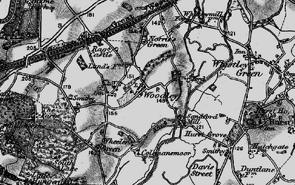 Old map of Woodley Green in 1895