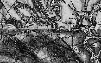 Old map of Wootton Wood in 1896