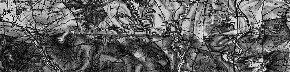 Old map of Woodleys in 1896