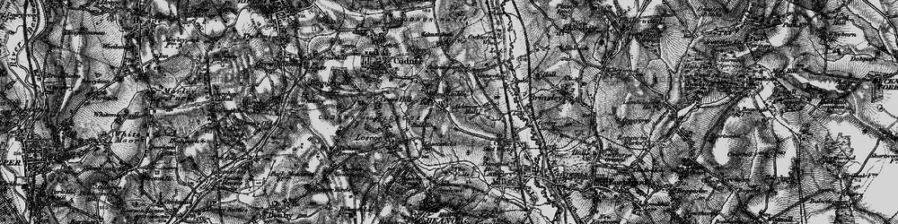 Old map of Woodlinkin in 1895