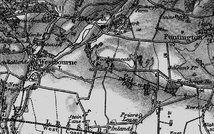 Old map of Woodmancote in 1895